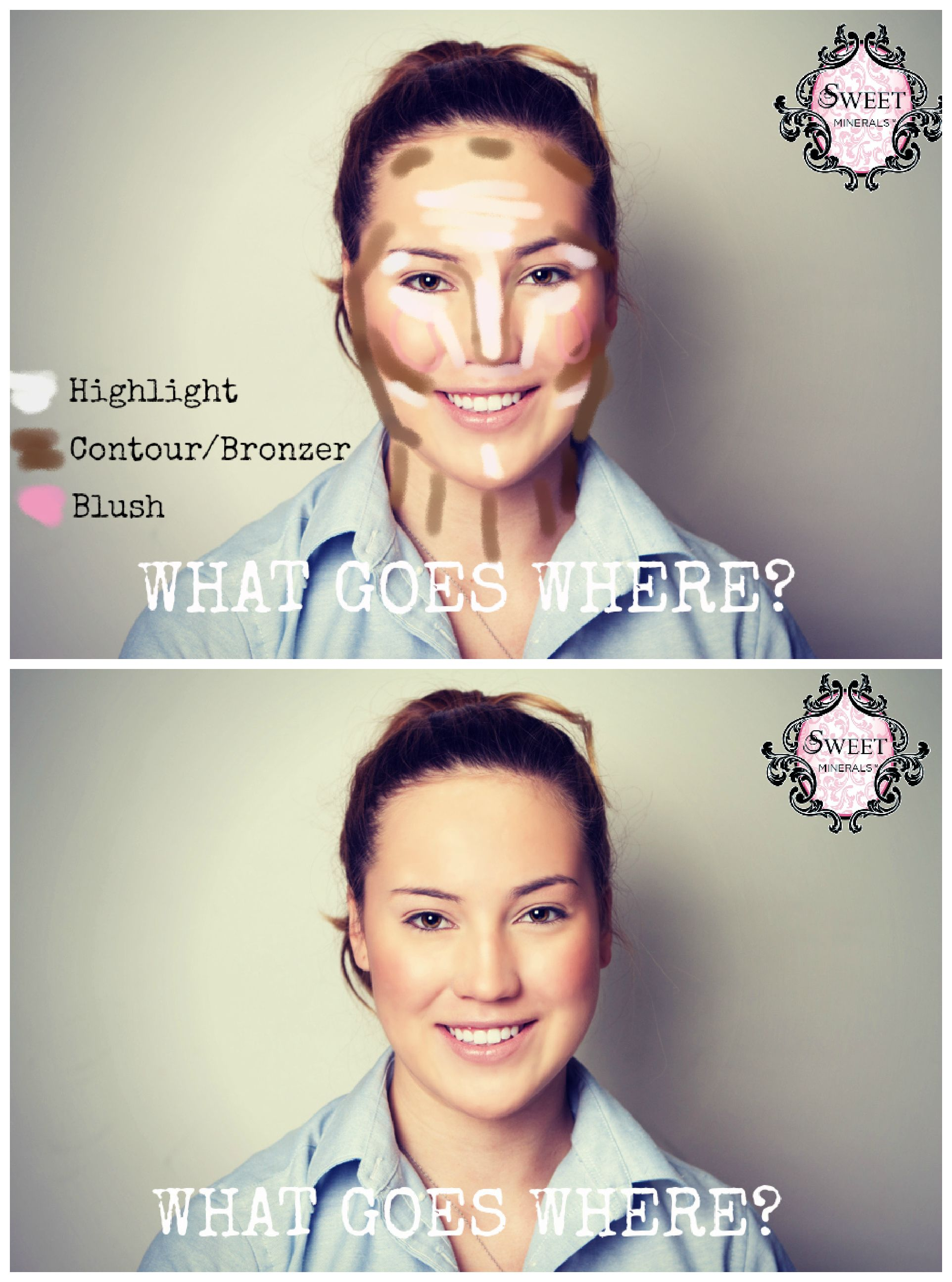 Wow, That's A Lot Of Stuff On Her Face, But I Suppose There Might · Contour  Facehighlighting Contouringhow