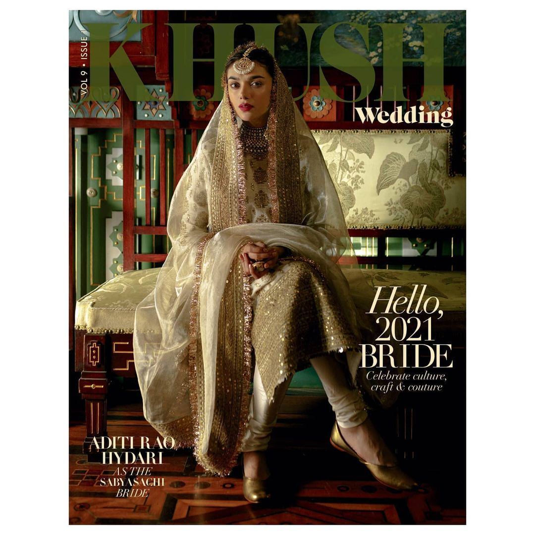 Aditi Rao Hydari in bridal avatar for Khush Weddin