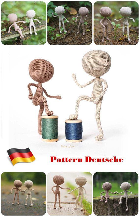 Deutsch #häkeln Tutorial Puppe, #Basismodell #Puppe, #Miniatur ...