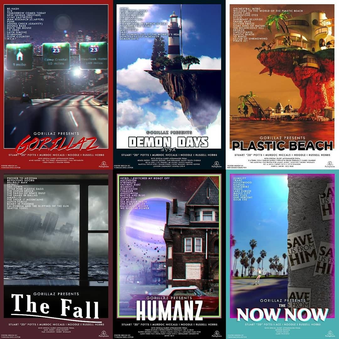 Gorillaz movie posters by the Kosmic Kollector via Reddit