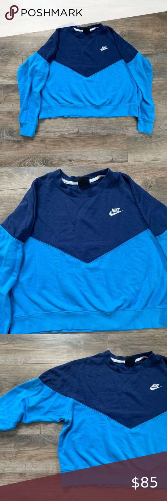 Nike Plus Colorblock Cropped Active Sweatshirt Euc Nike Plus Color Block Crop Sweater Size 2x Slightly Ove Long Sleeve Tshirt Men Cropped Sweater Sweatshirts [ 1740 x 580 Pixel ]