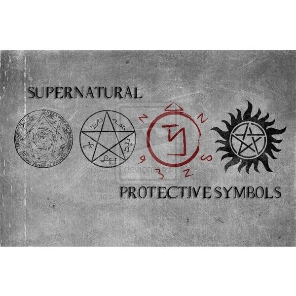 Supernatural Show Tattoos: Supernatural Protective Symbols For Those Who Don't Know