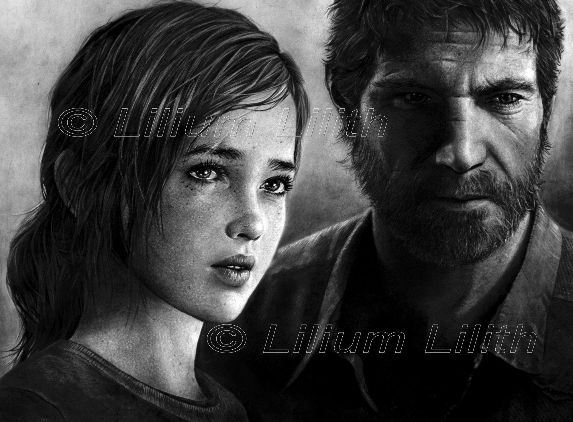 Dessin au crayon par Lilium Lilith © Titre : The Last of Us  Format : 62,5 X 46,5 cm