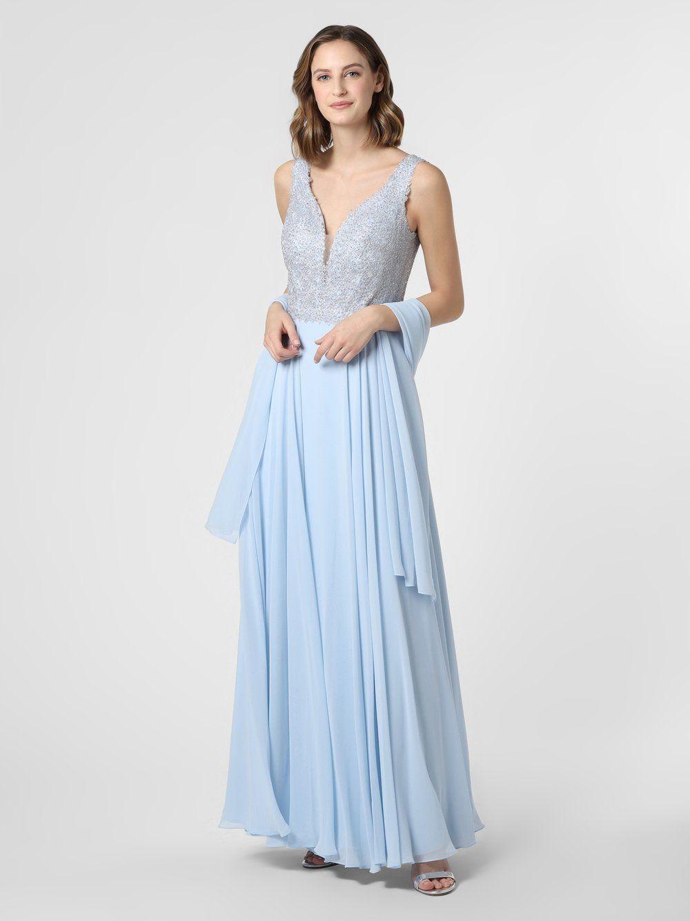 Luxuar Fashion  Abendkleid mit Stola blau