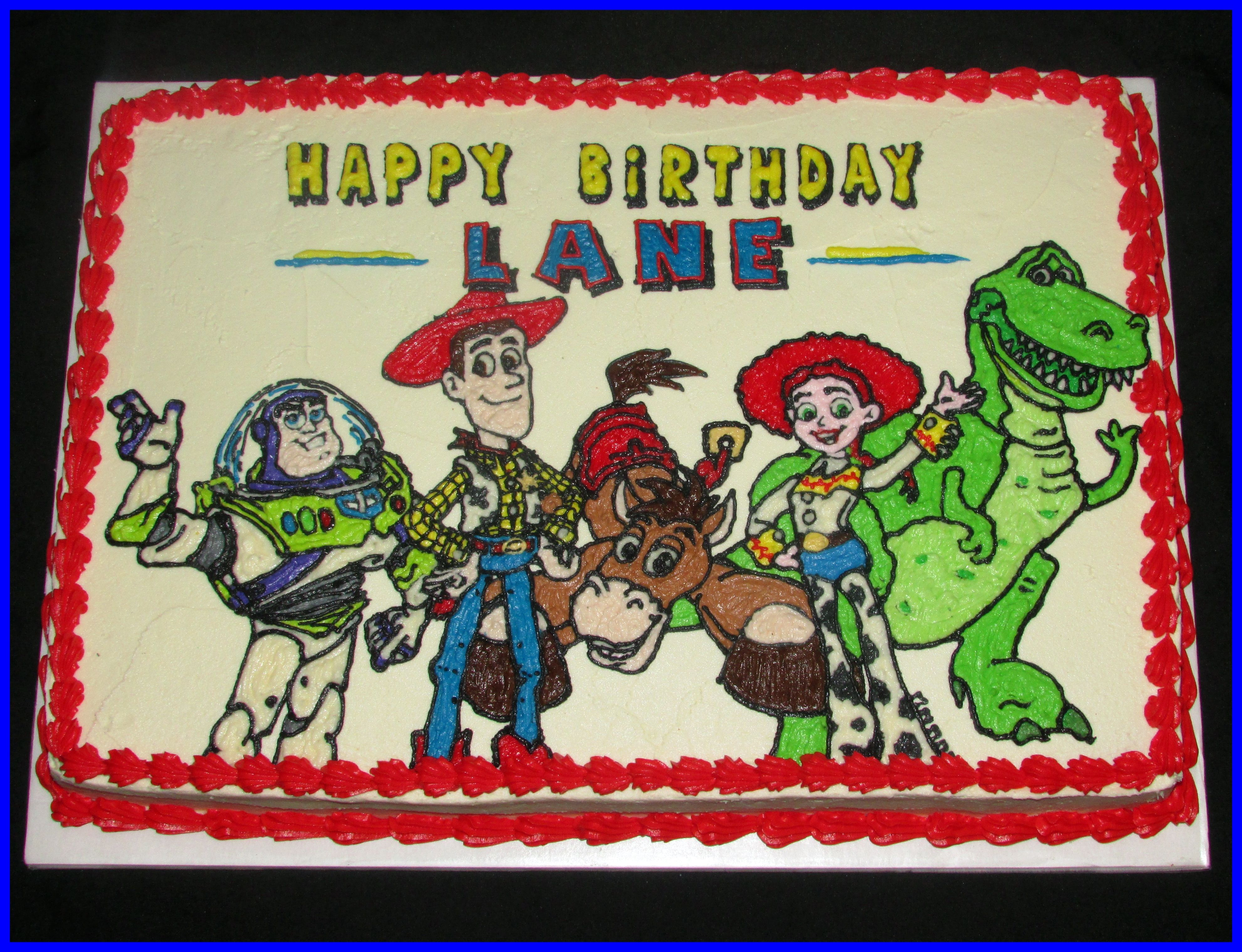 Jessie from toy story bedding - Toy Story Cake Buttercream Icing Only On A 1 2 Sheet Cake