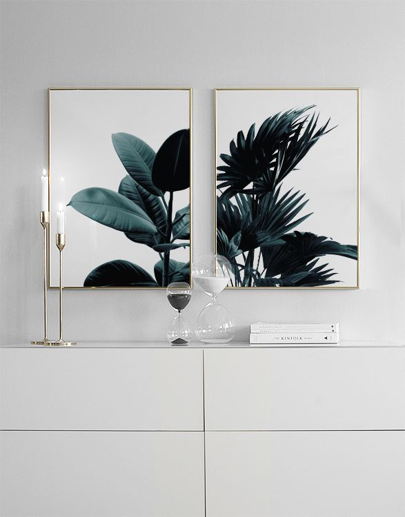 Photo of Green Plant / Palm Leaves, Poster