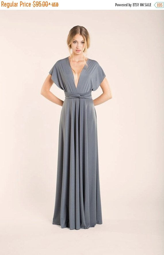 Silver grey infinity dress, Sharkskin dress, grey dress, silver ...