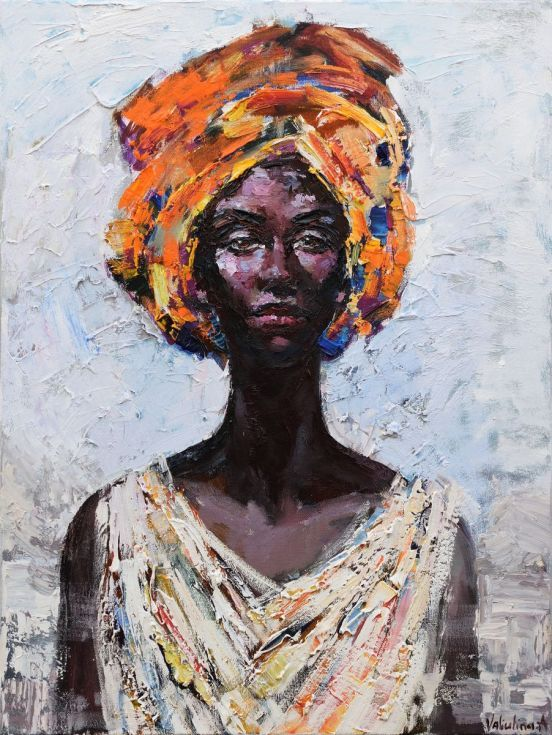 Buy African Queen portrait painting #2 - Original oil painting, Oil painting by Anastasiya Valiulina on Artfinder. Discover thousands of other original paintings, prints, sculptures and photography from independent artists.