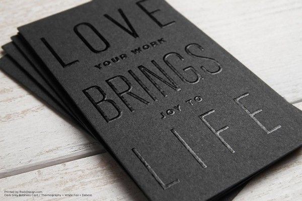 Gray thermography deboss foil stamp modern business card design gray thermography deboss foil stamp modern business card design love brings life reheart Choice Image