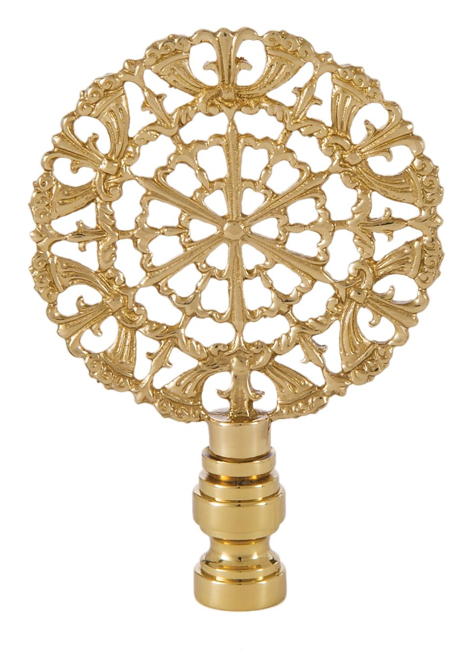 cast brass rose lamp finial 11341 | antique lamp supply | finials