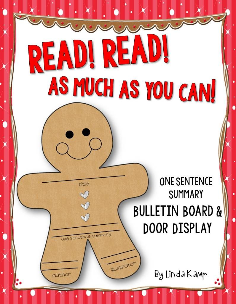 The Gingerbread Man Bulletin Board Display FREE Read! Read