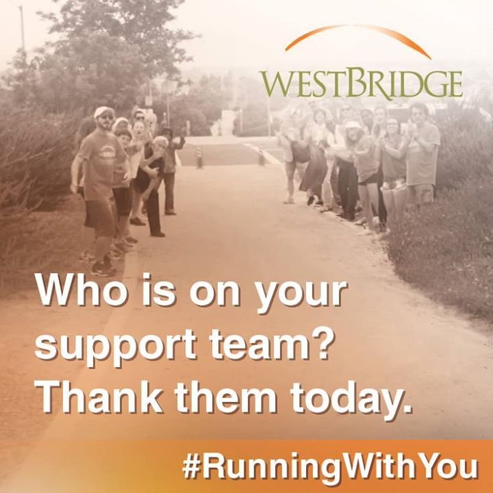Give thanks to those who support you in #recovery today. #RunningWithYou
