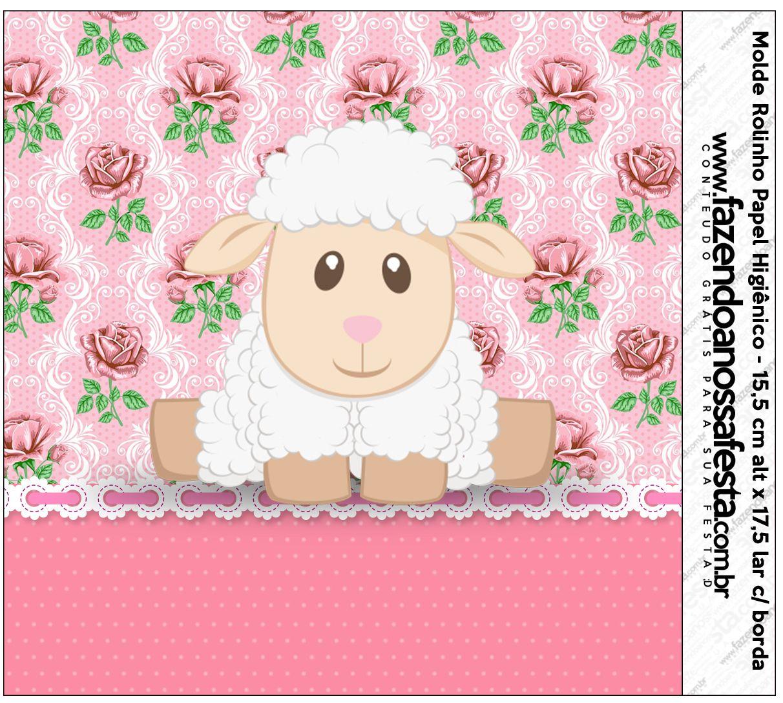 Kit Completo Digital Ovelhinha Rosa Provençal Kits Para Festas