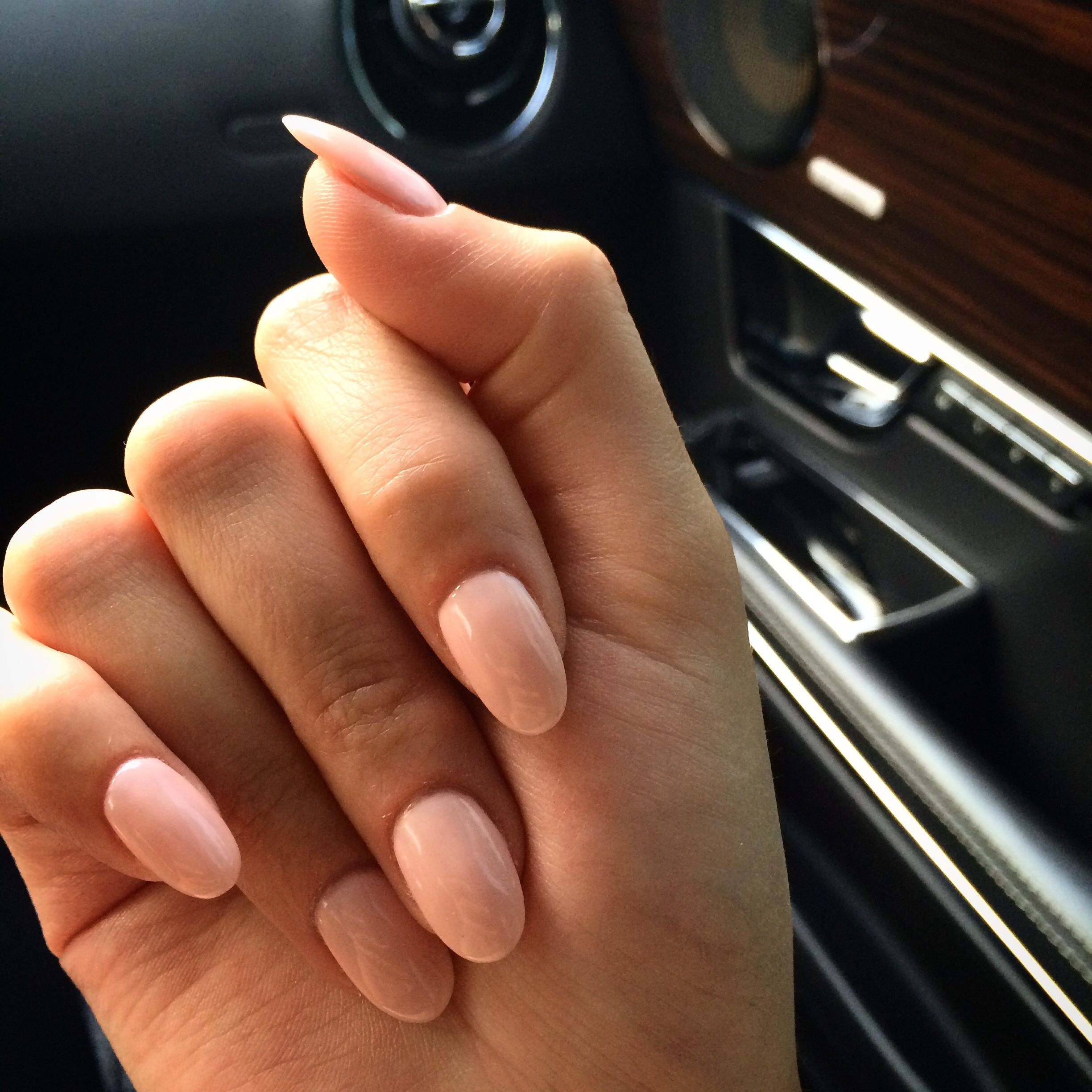 Want Simple Ones Like These For The First Time Getting My Nails Done Pink Oval Nails Nails Mermaid Nails