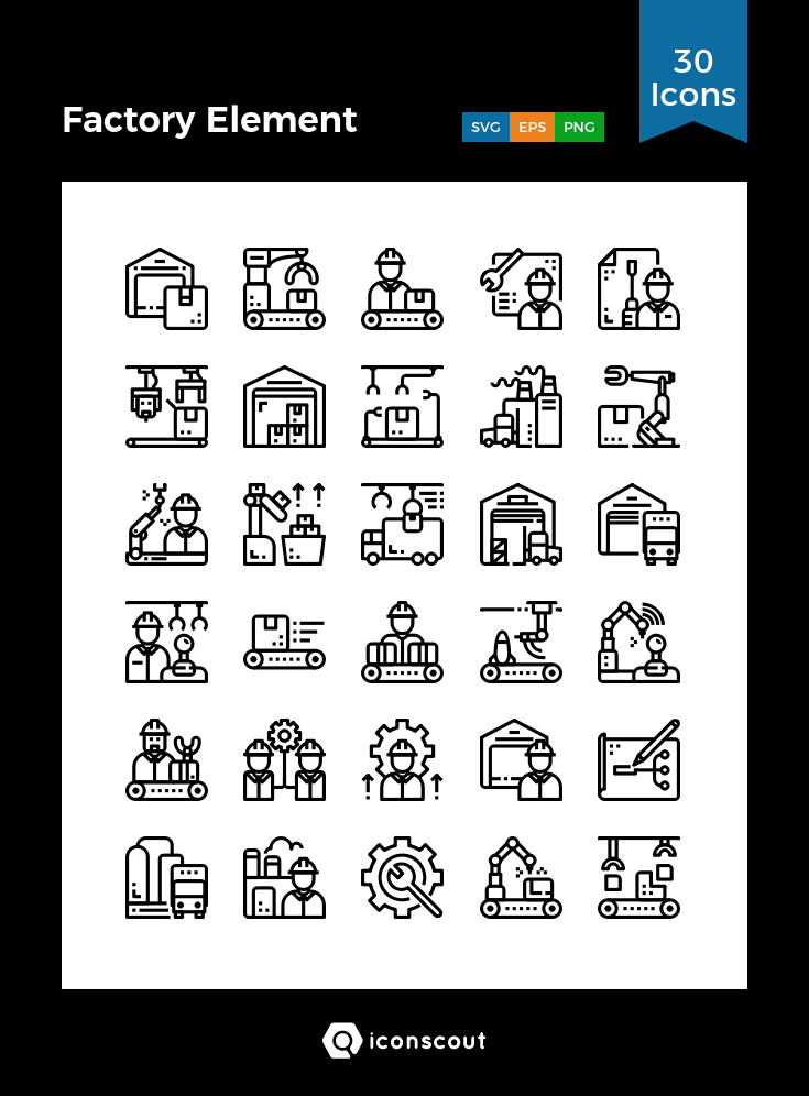 Download Factory Element Icon Pack Available In Svg Png Eps Ai Icon Fonts Factory Icon Icon Pack Icon