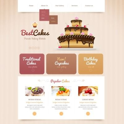 Bakery Responsive Website Template 43645 Bakery Website Bakery Design Website Template