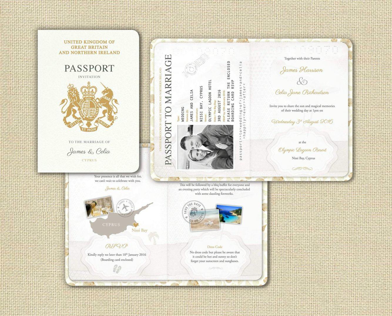 Passport wedding invites -get a free sample.. Inbox jill ...