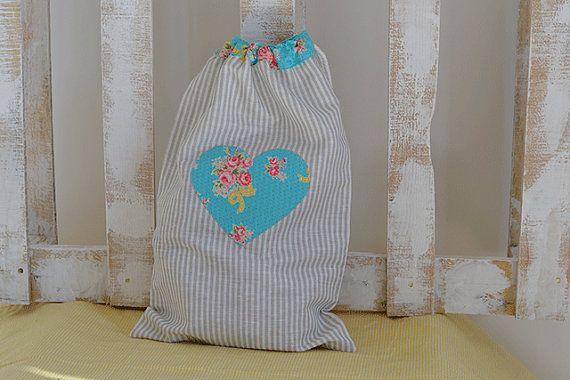Bolsa de lino hecha a mano por MissCocinita en Etsy