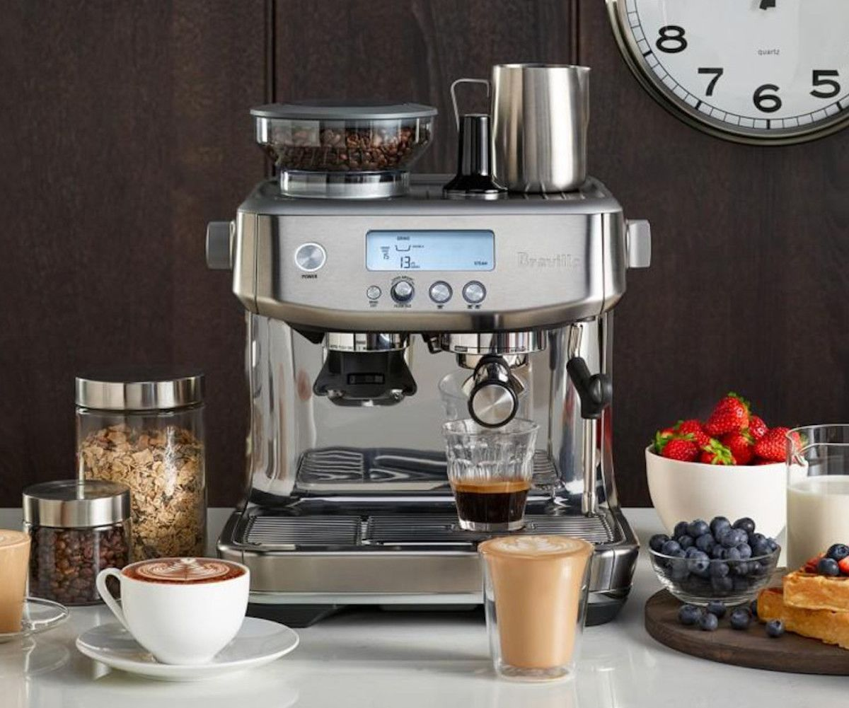 Breville The Barista Pro Espresso Machine Gives You Barista Quality Drinks At Home In 2020 Fancy Gift Ideas Creative Architecture Cool Stuff