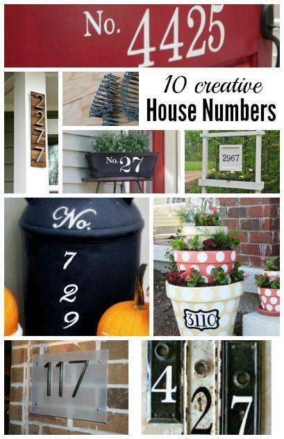 Creative House Number Ideas Cute Ideas For Your Front Porch - Best creative house number ideas
