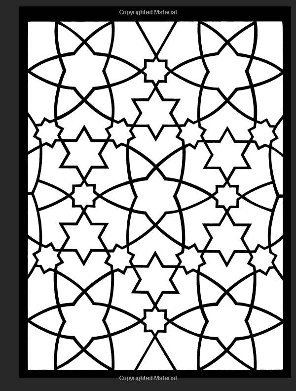 Arabic Patterns Stained Glass Coloring Book Dover Design A G Smith 9780486448398 AmazonSmile Books