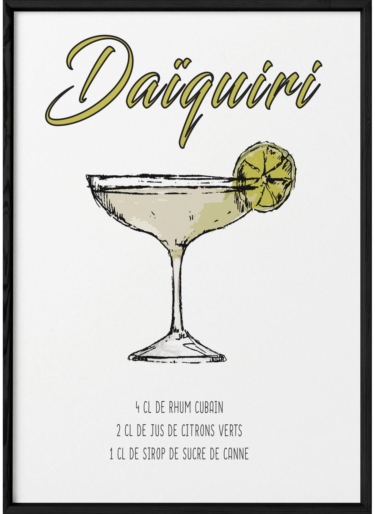 Affiche Cocktail Daïquiri, Affiches cuisine à offrir | LAfficherie