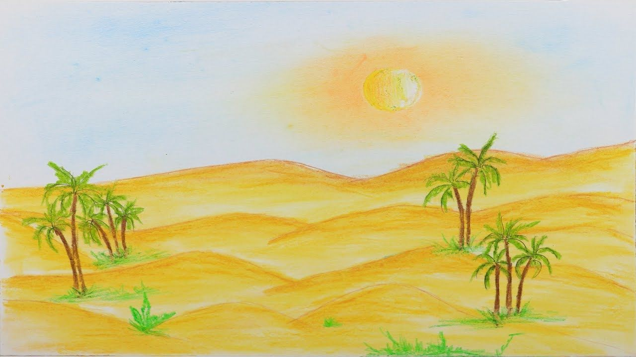 50++ Desert landscape coloring pages info