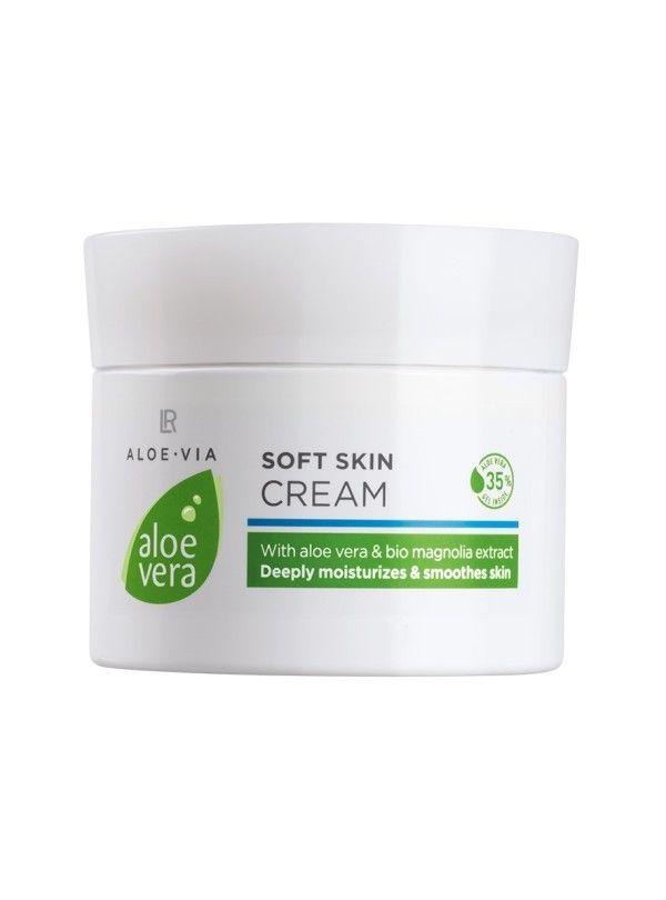La Crema delicata Aloe Vera con il 35% di puro gel di Aloe..