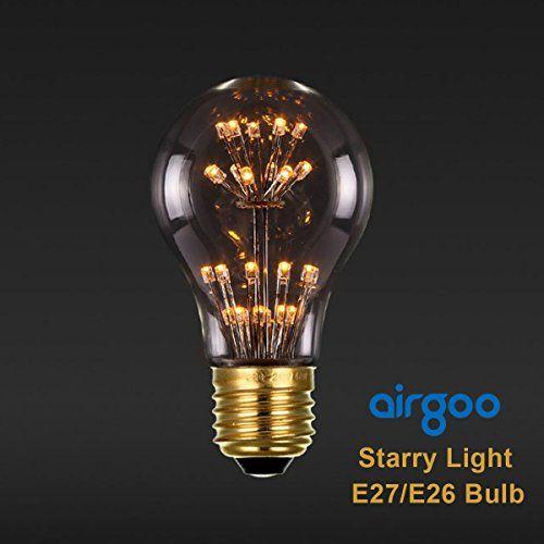 A19 3w Led Starry Night Light Bulb E26 Base Warm White 2400k Vintage Edison Style Decorative Led Bulbs Dimmable Night Light Bulbs Starry Night Light Led Bulb