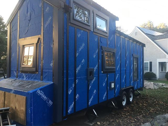 One step, two step, three step, we already painted the door, five step, six step, seven step, we finished #painting some more. #tinyhouse #tinyhousebuild #housetrim
