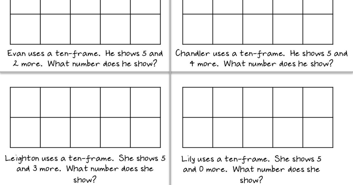 show what you know with tenframes.pdf First grade math