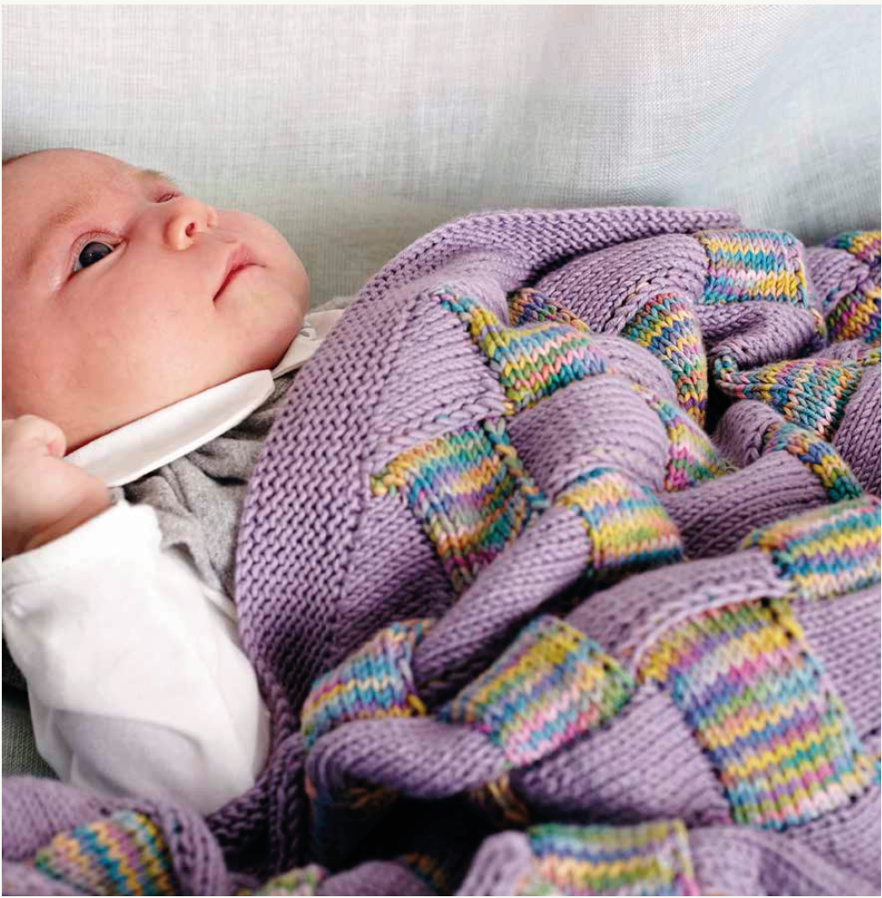Debbie bliss Entrelac Baby Blanket pattern in Eco baby print .Soft ...