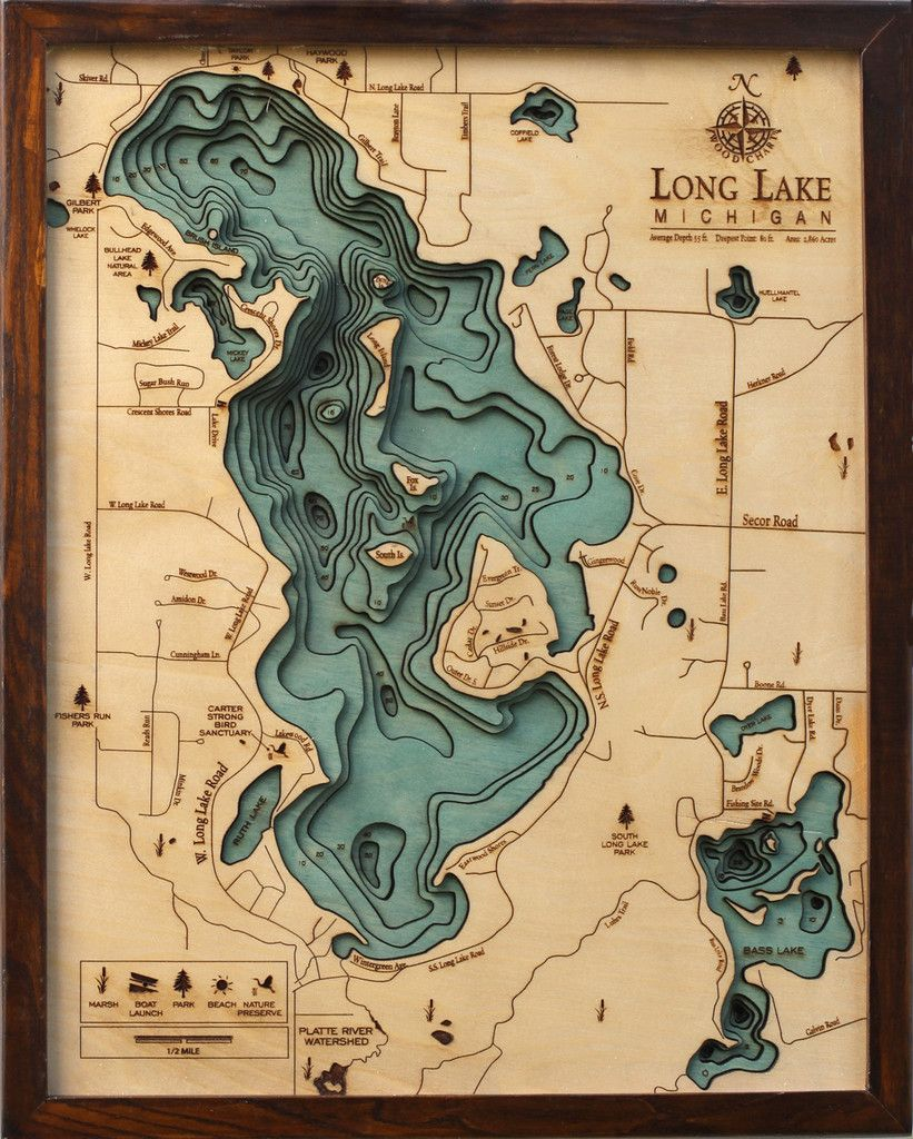 bass lake michigan map Mapa De Long Lake Em Madeira Mappe Antiche Mappe Mappa bass lake michigan map