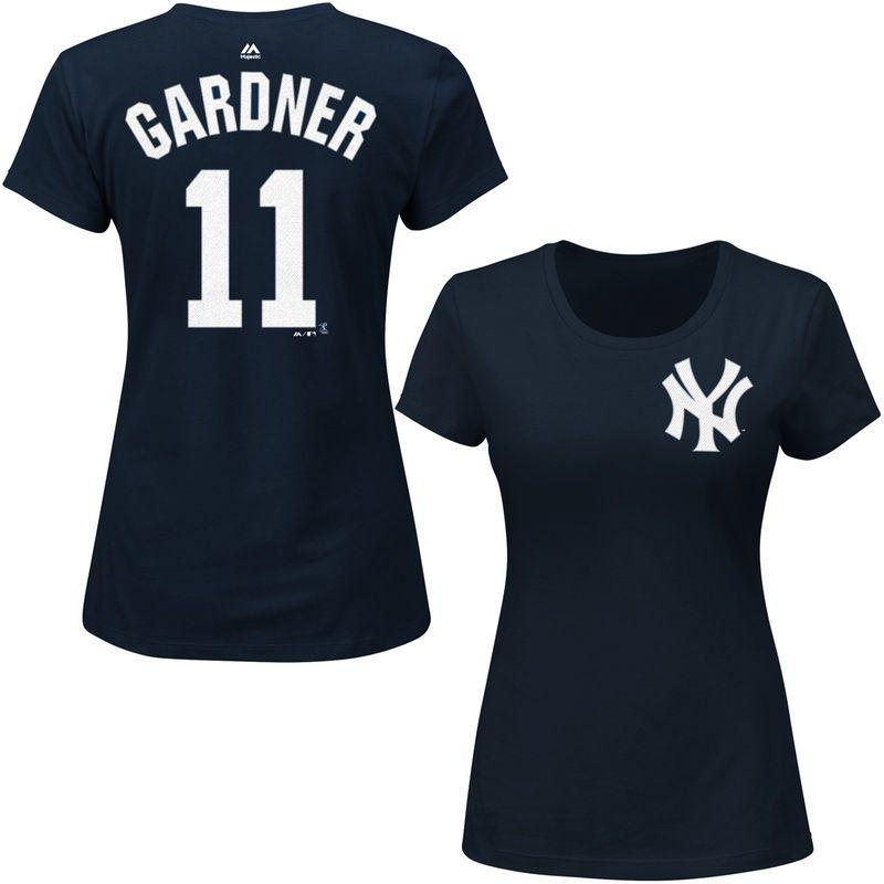 new arrival 702b9 688b0 Brett Gardner New York Yankees Majestic Women's Name ...