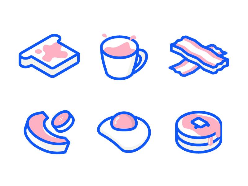Breakfast Icons Icon Design Inspiration Icon Design Flat Design Icons