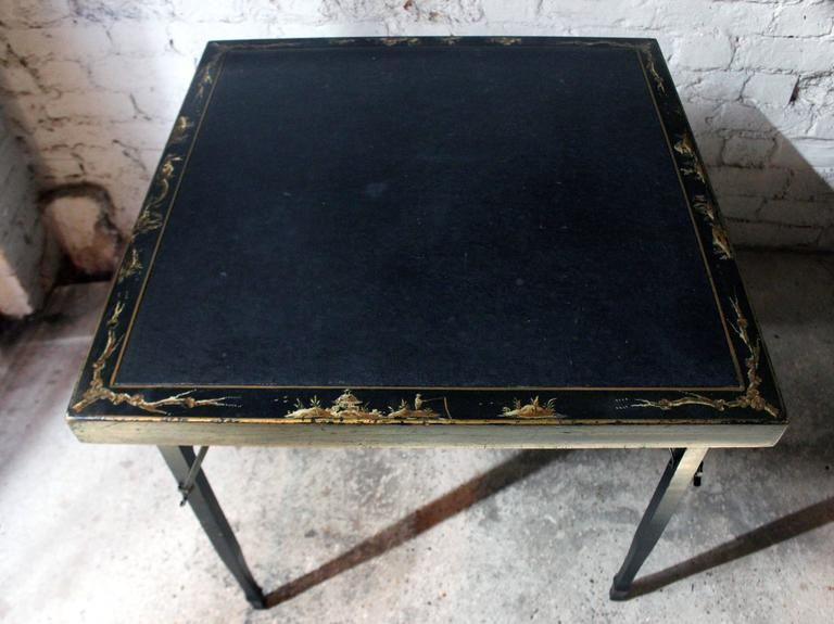 American Lacquered Chinoiserie Folding Card Table Circa 1923 Chinoiserie Chinese Style Design Decorating Themes