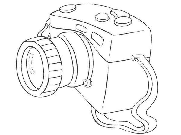 Photography With Dslr Camera Coloring Page Coloring Sky