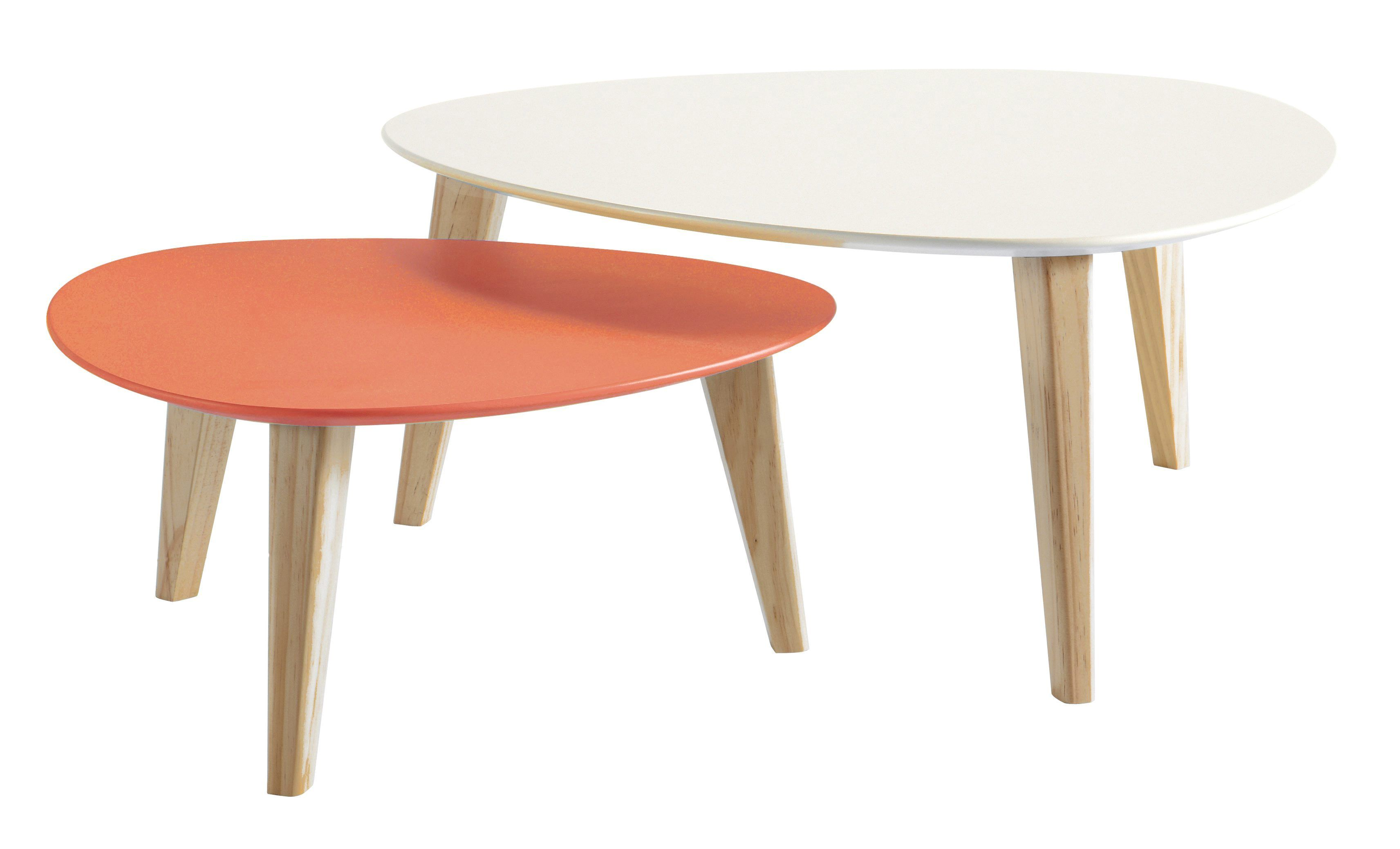 Tables Gigognes Orange Blanc Betty But Couleur De L Annee 2019