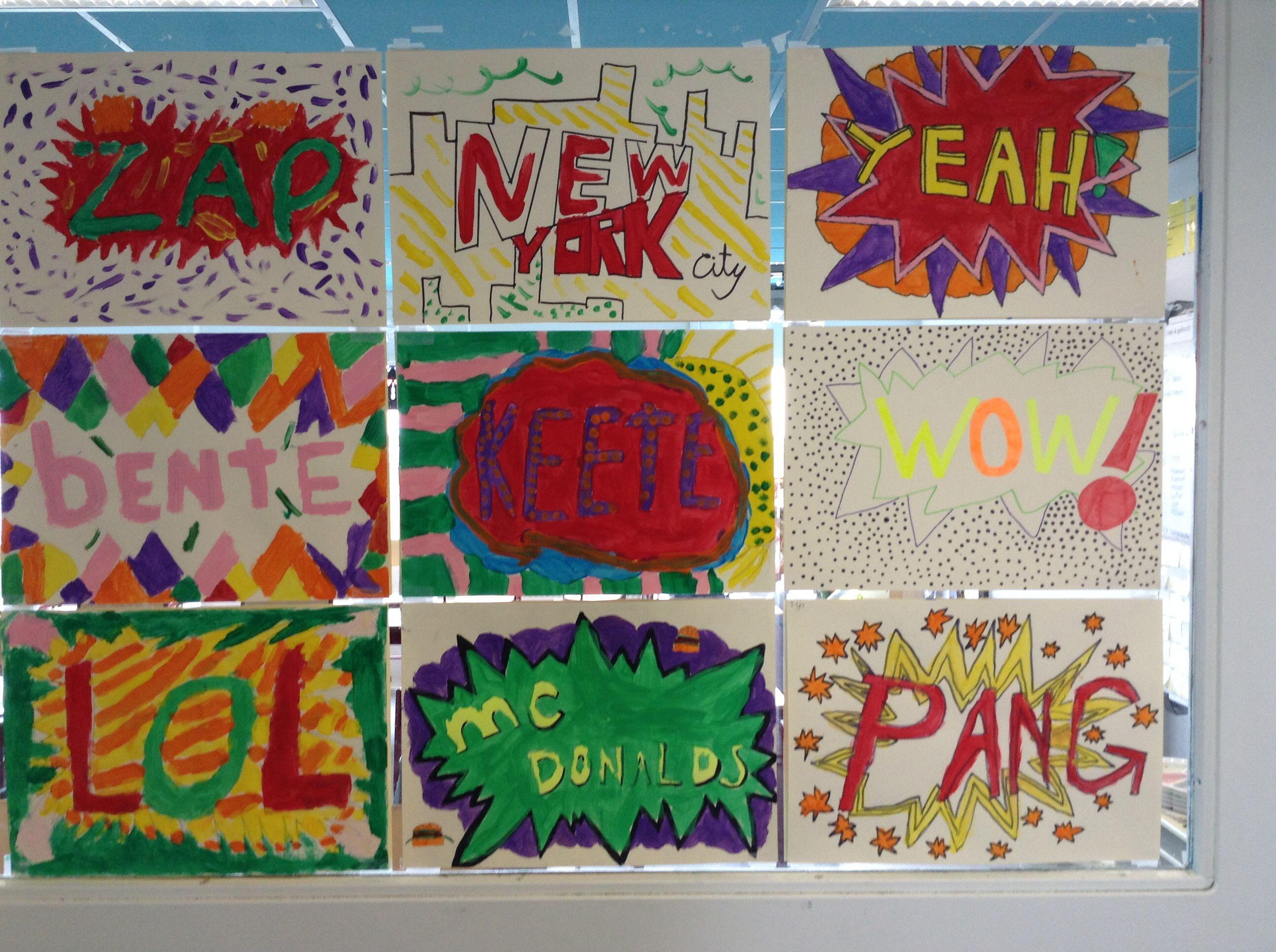 Bekend Pop art knutselen groep 5/6 | Crafts | Pinterest | School &CQ28