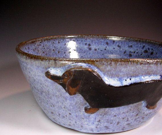 Dog food water bowl, pottery dog bowl, ceramic dog bowl