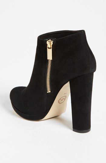 1f000fa97a52 Michael Kors Women s Black Suede Haven Bootie I bought these new at a store  like TJMaxx in Knoxville Tn. I recommend them and they are easy to walk in  firm ...