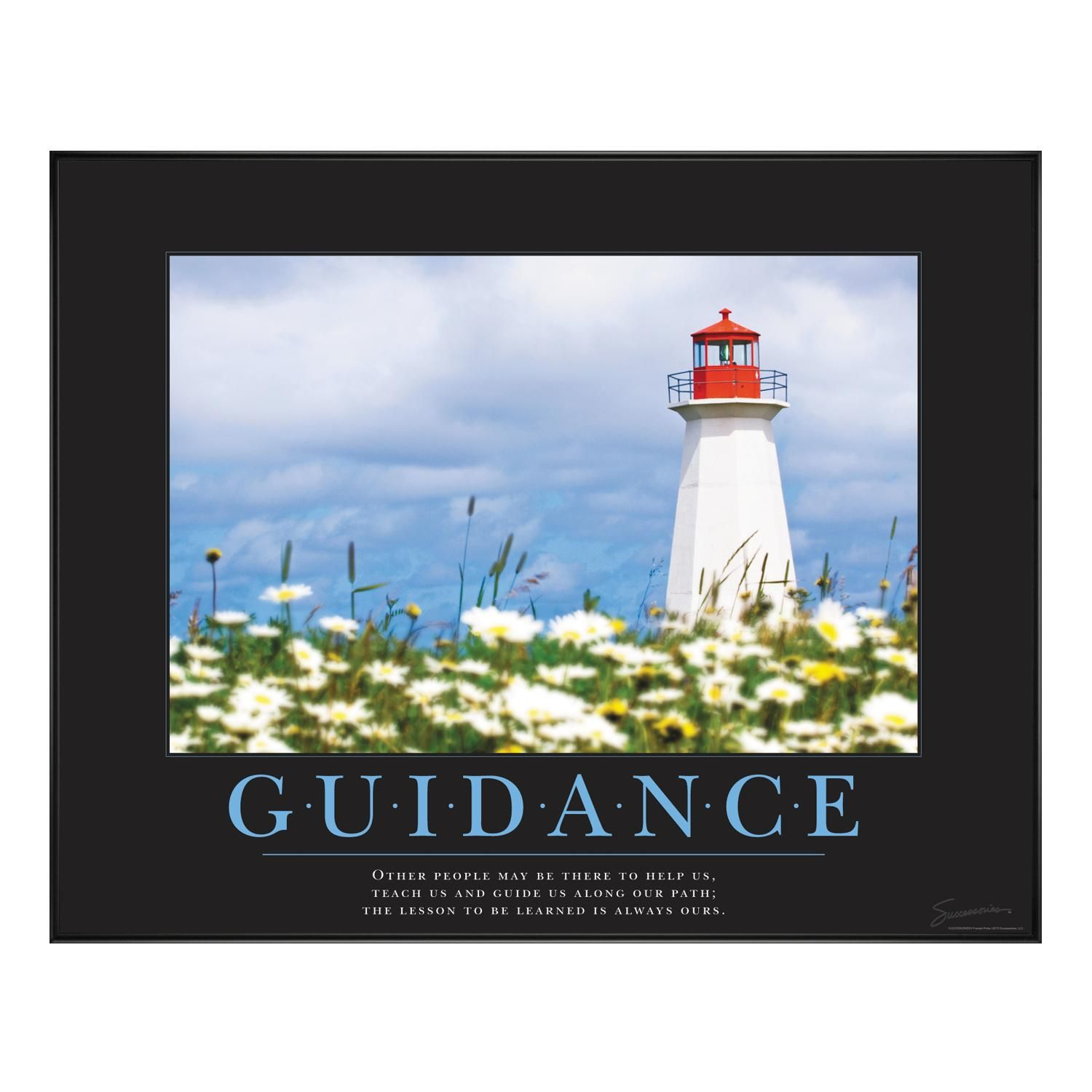 Guidance Lighthouse Motivational Poster By Successories Classic
