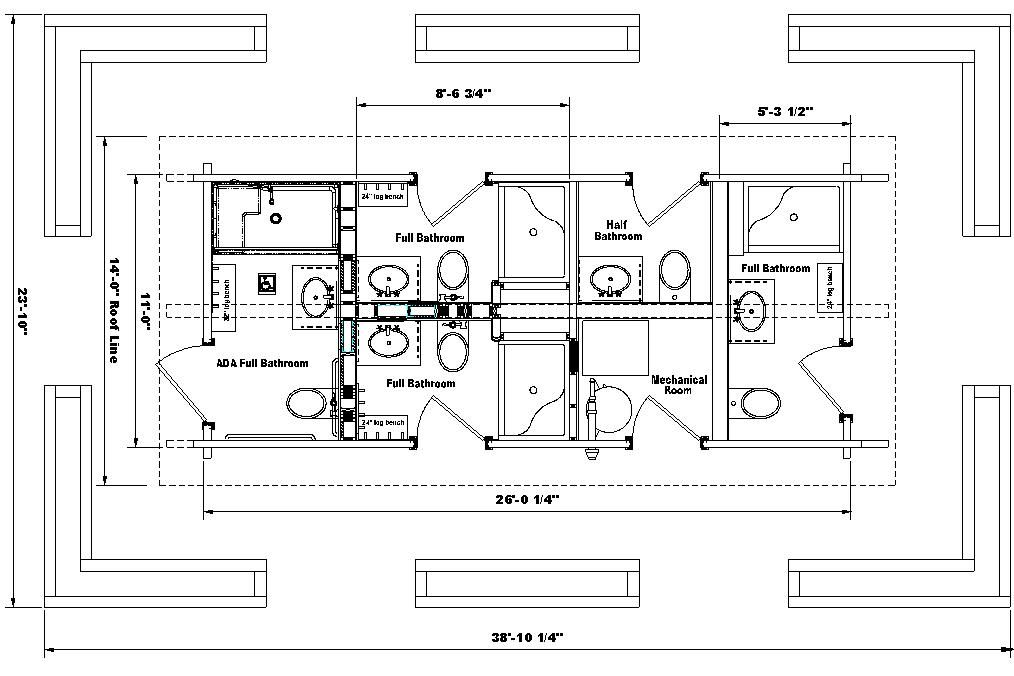 Ada bathroom floor plans get ada bathroom requirements for Bathroom for disabled plan