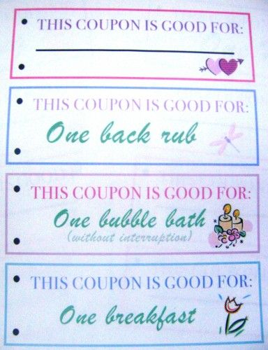 Mothers day coupon book A PARTY and HOLIDAYCLOSED BOARD - coupon sample template