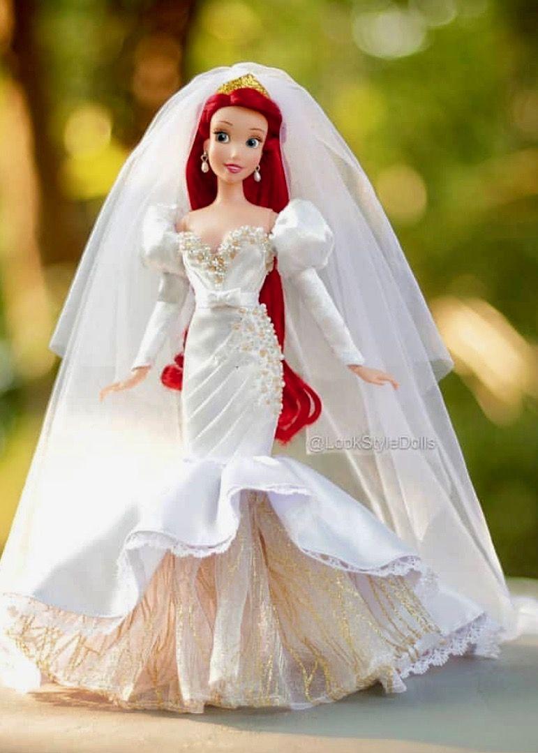 24 Arielbridedoll Lookstyledolls Doll Dress Bride Dolls Princess Barbie Dolls [ 1079 x 771 Pixel ]