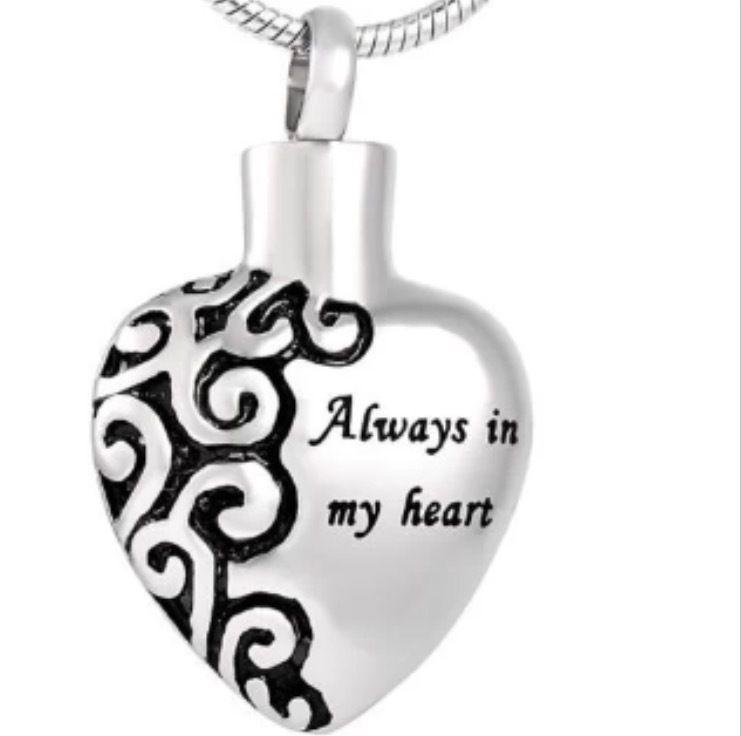 Always in my Heart Cremation Necklace American Memorials