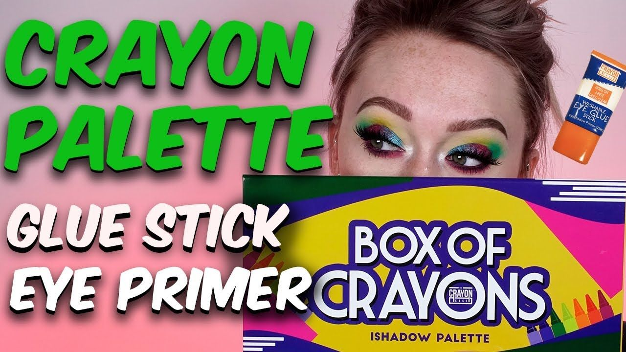 FIRST IMPRESSIONS CRAYON Eyeshadow Palette & GLUE STICK