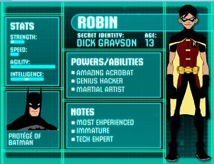 Young Justice: Illustrated Character Bios | Batman | Pinterest ...