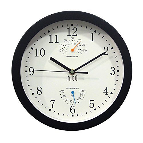 Hito Silent Non Ticking Wall Clock Metal Frame Glass Cover 10 Inches New Offers Awaiting You Home Decor Clocks Metal Wall Clock Wall Clock Clock