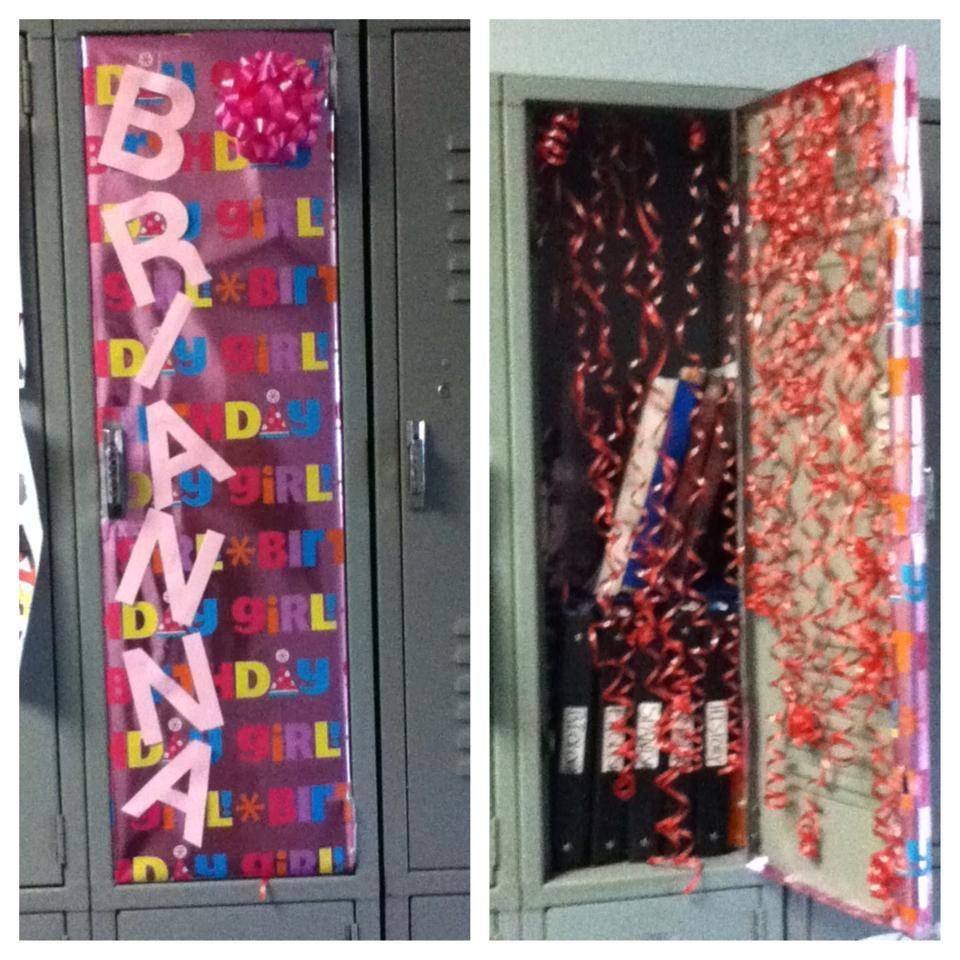 Decorated My Friend Brianna's Locker For Her Birthday